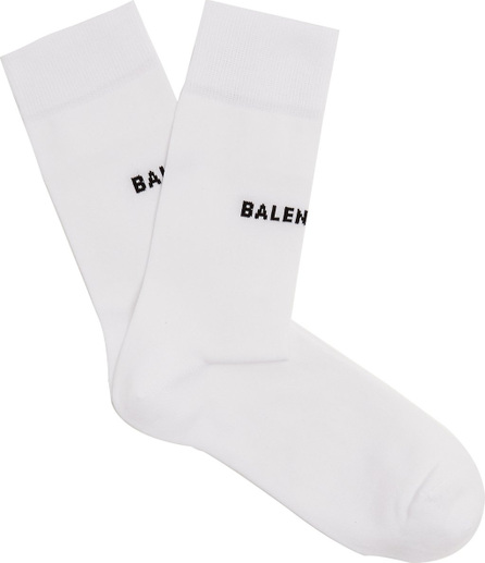 Balenciaga Logo-intarsia cotton-blend socks