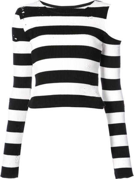 Amiri shoulderless striped top