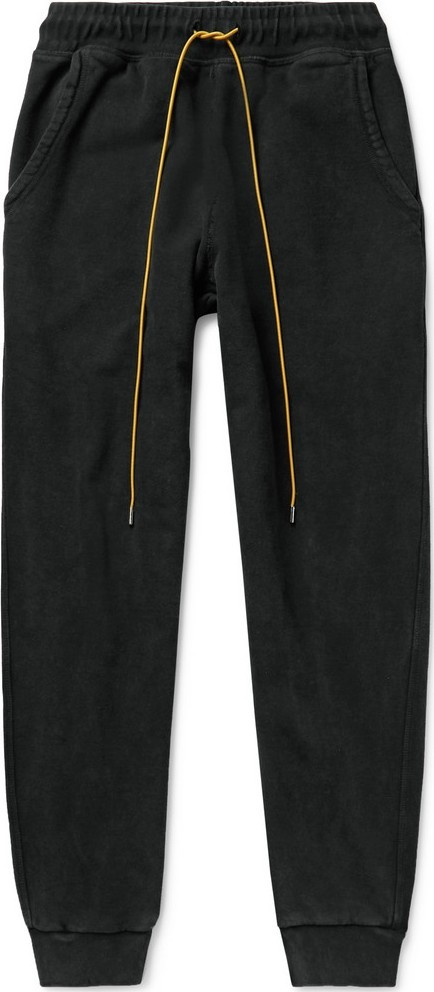 RHUDE Slim-Fit Tapered Printed Loopback Cotton-Jersey Sweatpants