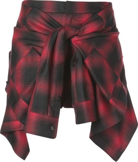 Alexander Wang checked shirt-mini skirt