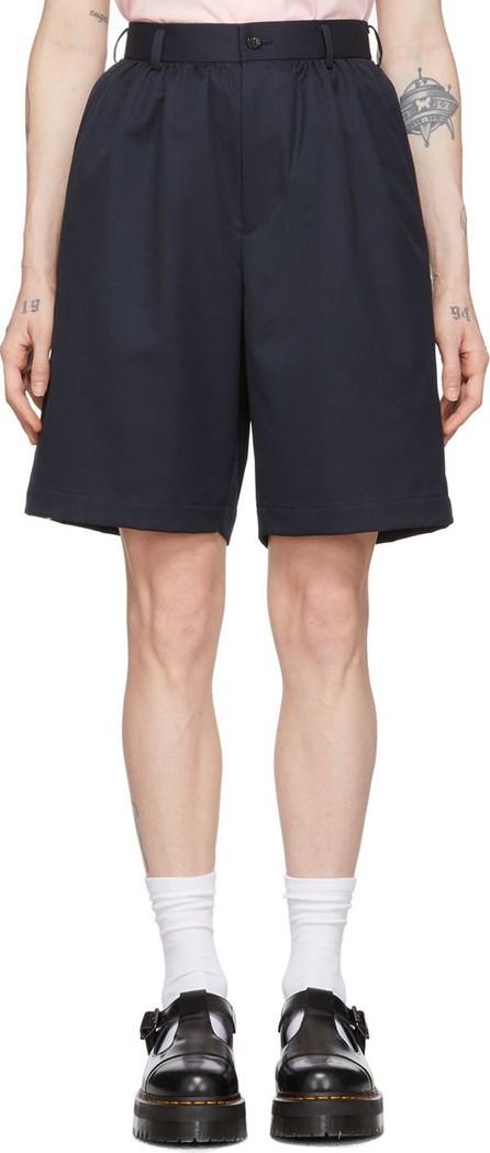 Comme Des Garçons Girl Navy Wool Suiting Shorts