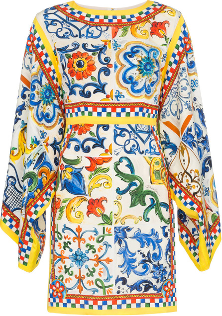 Dolce & Gabbana Silk maiolica print dress