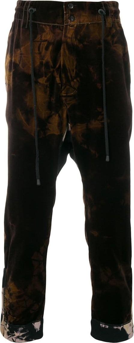 Di Liborio Printed velvet trousers