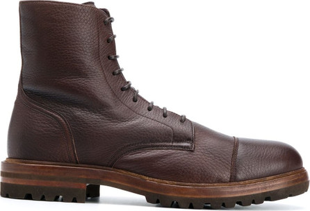 Brunello Cucinelli Low-heel lace-up ankle boots