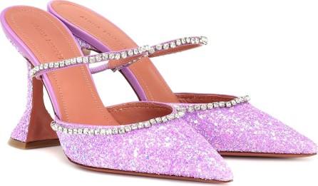 Amina Muaddi Gilda crystal-embellished mules