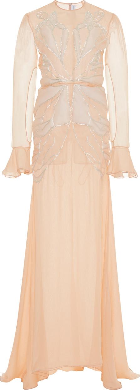 Francesco Scognamiglio Butterfly Long Sleeve Gown