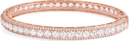 64 Facets 18K Rose Gold Linear Hinged Diamond Bracelet