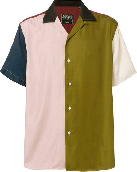 Gitman Vintage Colour block short sleeve shirt