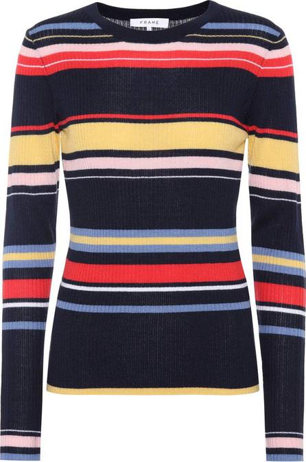 FRAME DENIM Striped ribbed sweater