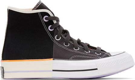 Converse Black & Grey Sun Blocked Chuck 70  Hi Sneakers