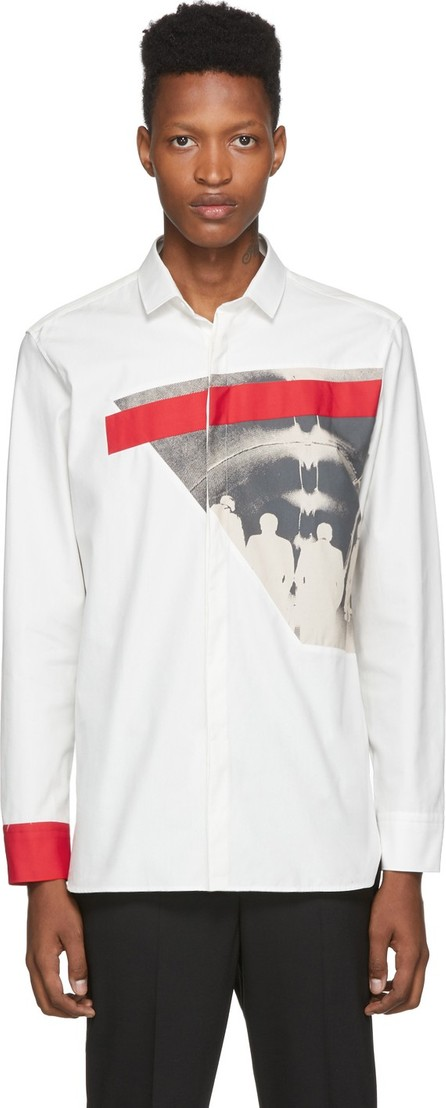 Neil Barrett Off-White Modernist Print Shirt