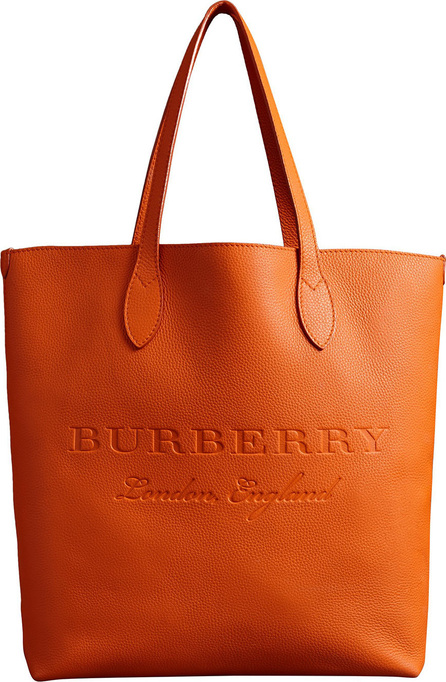 Burberry London England Embossed Leather Tote