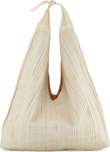 THE ROW Bindle Pleated Silk Mesh Hobo Bag