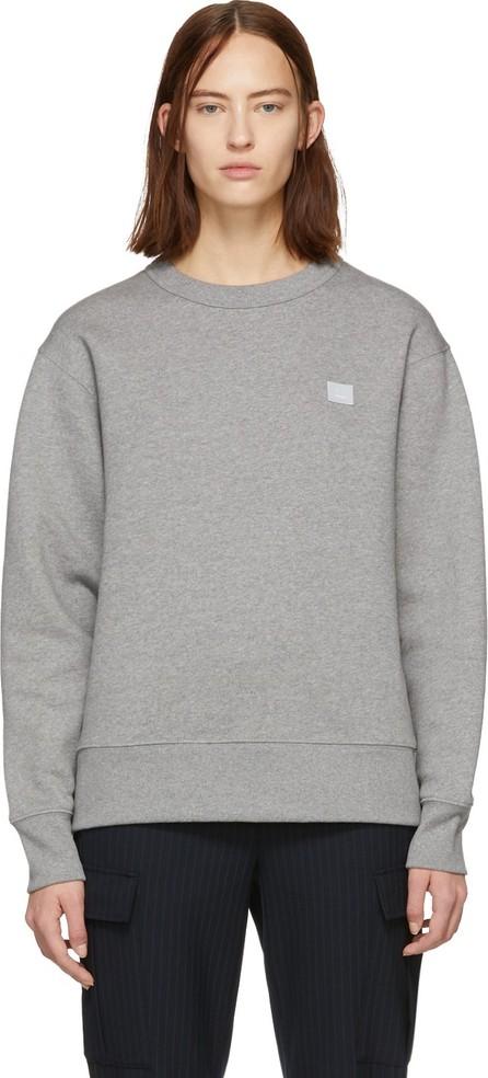 Acne Studios Grey Oversized Fairview Face Sweatshirt