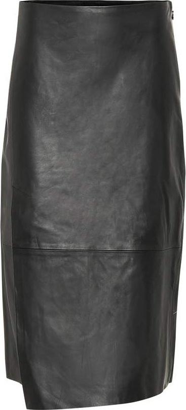 Vince Asymmetric leather skirt