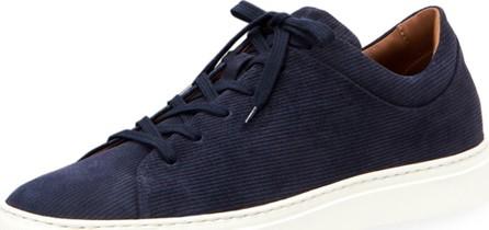 Aquatalia Men's Alaric Corduroy Suede Low-Top Sneakers