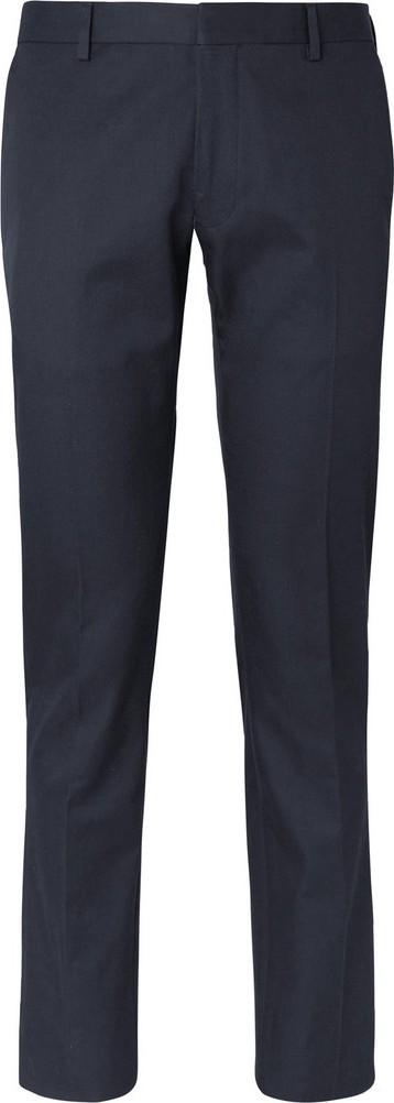 Dries Van Noten Navy Slim-Fit Cotton-Twill Suit Trousers