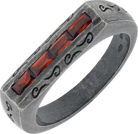Marco Dal Maso Men's Ara Baguette Garnet Band Ring, Size 10.5