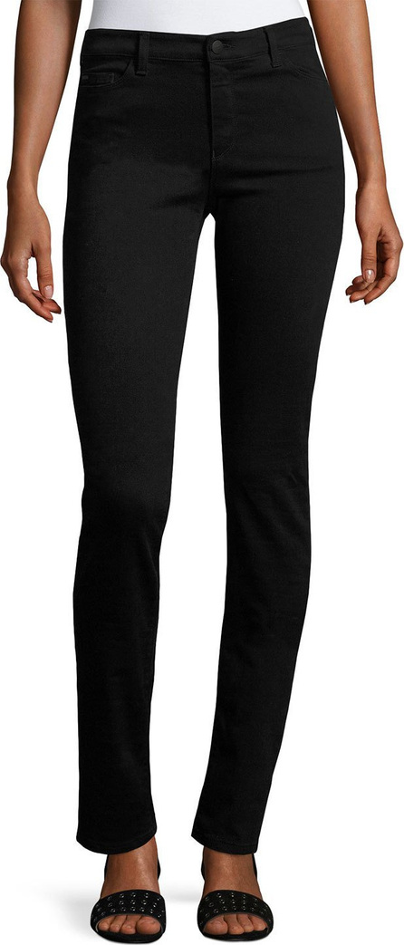 Armani Jeans High-Rise Stretch-Denim Slim Jeans, Black