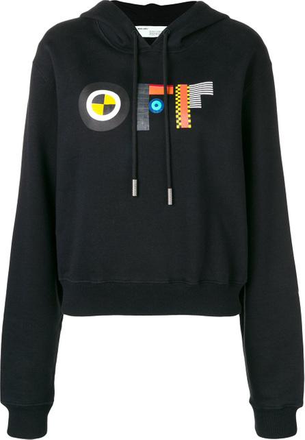Off White Graphic logo print hoodie