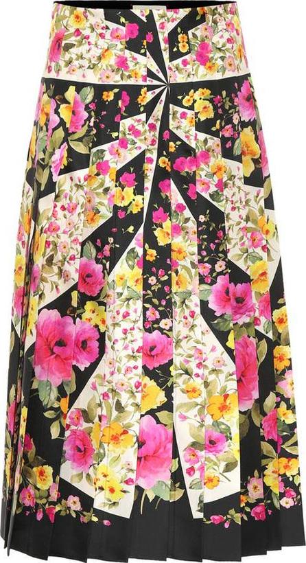 Gucci Pleated silk twill skirt