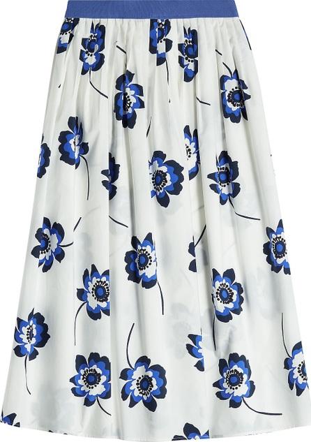 Agnona Printed Cotton Midi Skirt