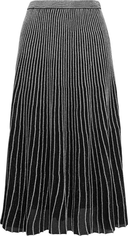 Proenza Schouler Plissé metallic stretch-knit midi skirt