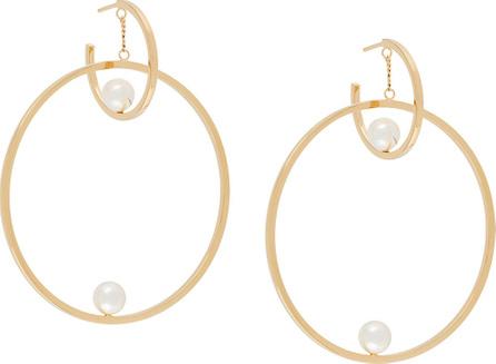 Chloe Pearl hoop earrings