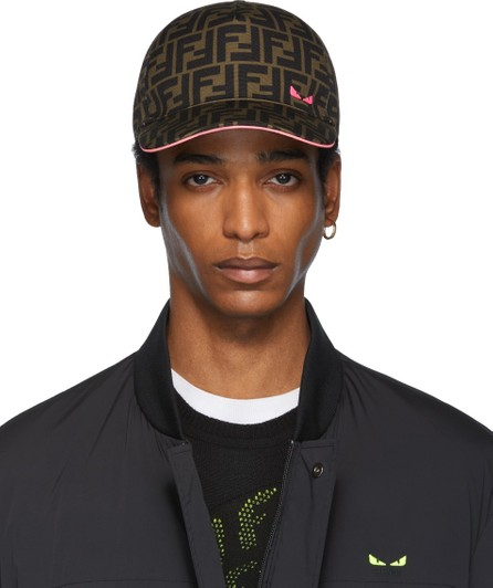 Fendi Brown & Pink 'Forever Fendi' Cap