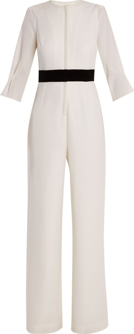 Goat Errol wide-leg wool-crepe jumpsuit