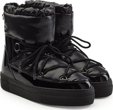 Moncler Quilted Ankle Boots with Patent Leather