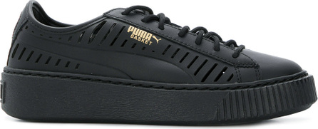 PUMA Cutout detail lace-up sneakers