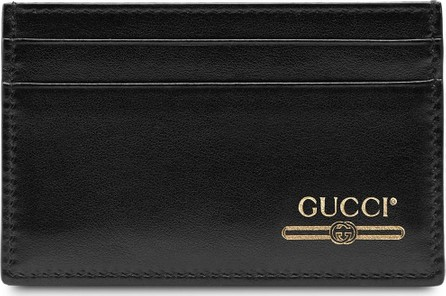 Gucci Leather card case with Gucci logo