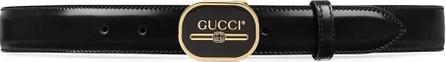 Gucci Print buckle belt