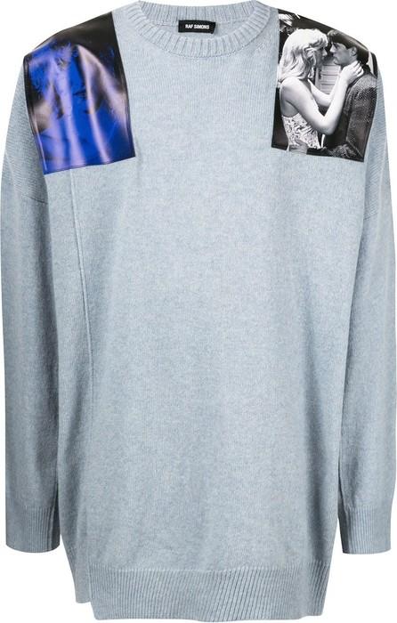 Raf Simons Oversized Blue Velvet print jumper