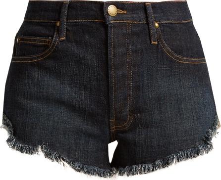 THE GREAT. The Cut Off raw-hem denim shorts