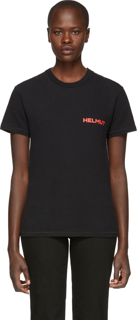Helmut Lang Black 'Little Tee With Print' T-Shirt