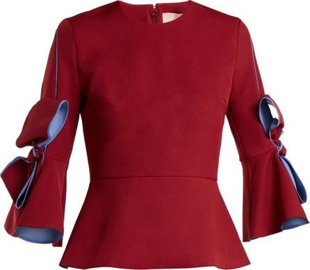 Roksanda Kemi crepe bow-sleeve blouse