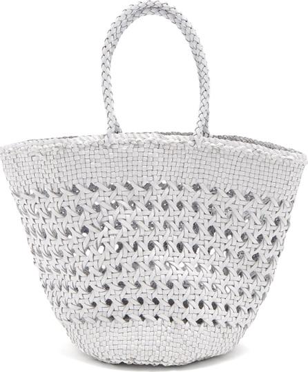 Dragon Diffusion Myra Cannage woven-leather basket bag