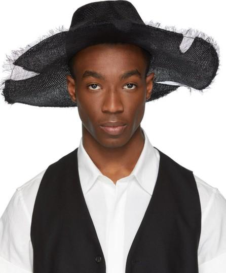 Ann Demeulemeester Black Straw Beach Hat
