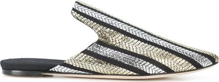 Sanayi 313 Pointed toe metallic slippers