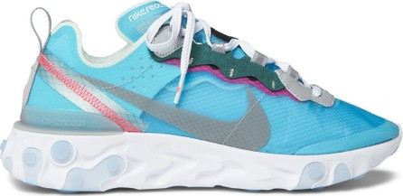 Nike React Element 87 Ripstop, Leather and Suede Sneakers