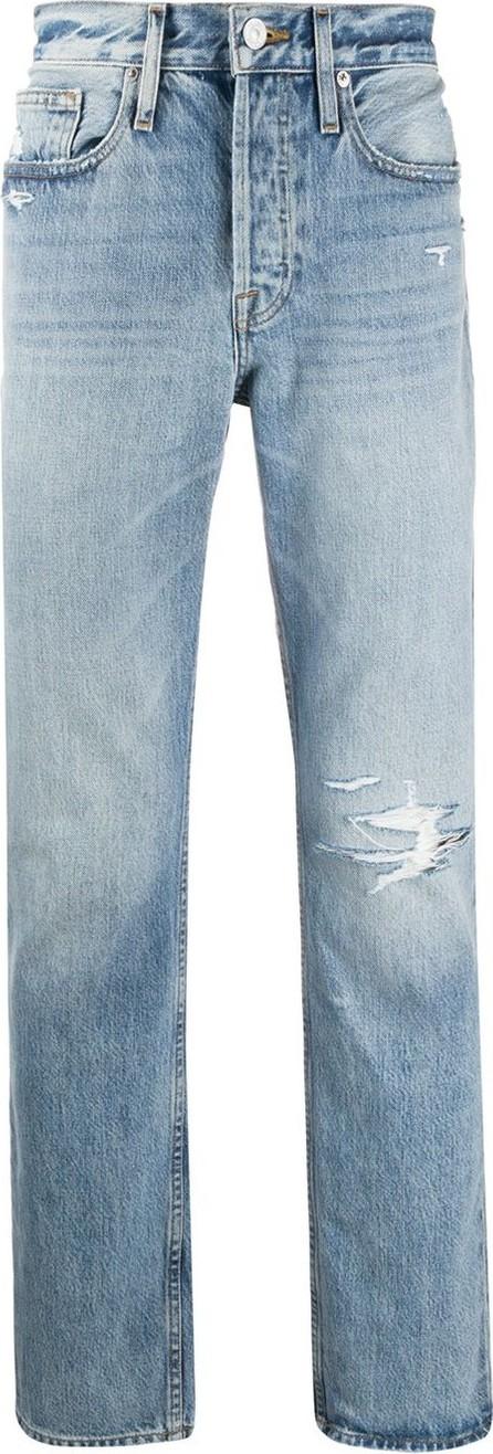 FRAME DENIM Distressed slim-fit jeans