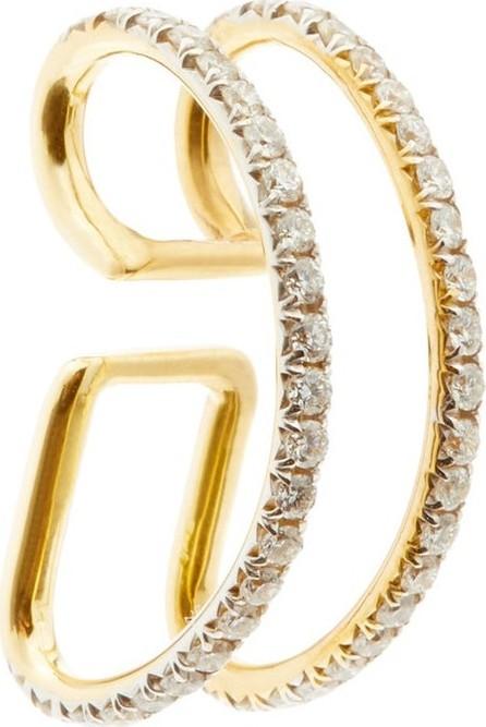 Ana Khouri Jamie 18kt gold & diamond pavé ear cuff