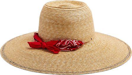 Lola Hats Windsock bandana-print straw hat