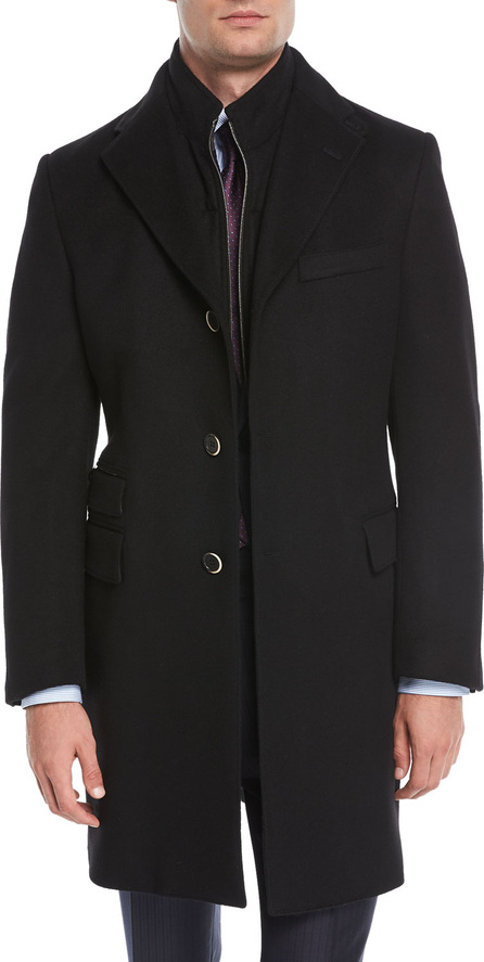 Corneliani Wool Double-Layer Topcoat