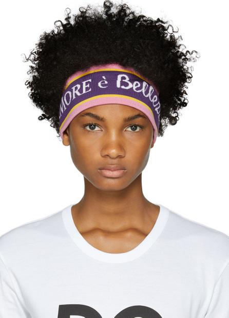 Dolce & Gabbana Purple 'L'Amore' Headband