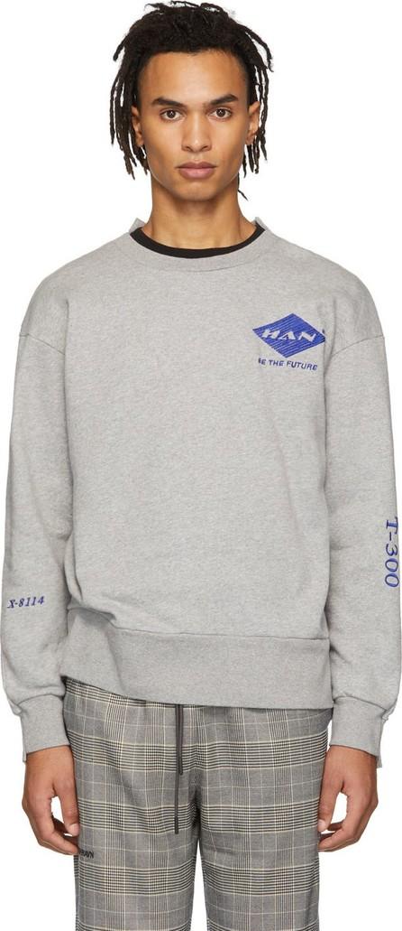 Han Kjobenhavn Grey Off Crew Sweatshirt