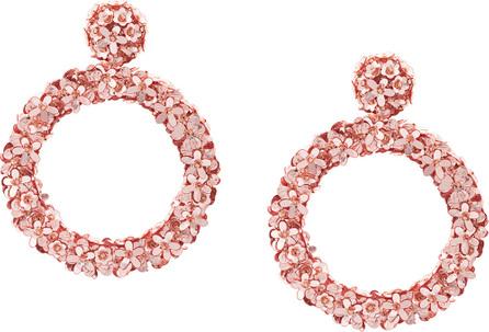 Sachin & Babi Floral hoop earrings