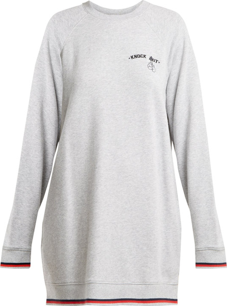 The Upside Knockout cotton sweatshirt dress